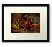 Stewpot with home grown vegetables Framed Print