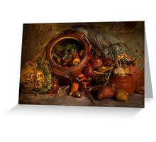 Stewpot with home grown vegetables Greeting Card