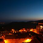 Safed old city at night by Moshe Cohen