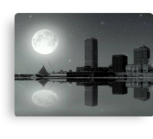 Downtown Milwaukee...Lake View ©  Canvas Print