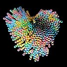 Colourful heart  by Nina  Matthews Photography