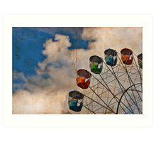 Postcard of Adelaide Ferris Wheel Art Print