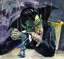 Job Interview: Count Dracula Marionette by Norman Kelley