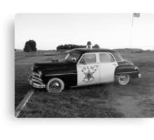 Old Police Cruiser Metal Print