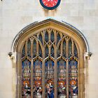 Stained glass window - Cambridge University by evilcat