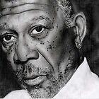 Morgan Freeman by valerieg1