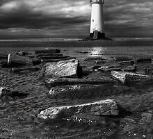 Lighthouse at Talacre by Adrian Evans