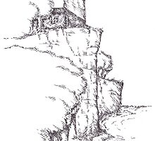 Split Rock Lighthouse in Marker by roughsketching