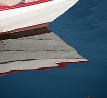 White Clapboard And Red Gunwale by phil decocco