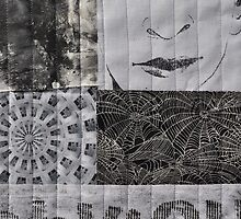 Black and White Fabric Collage by melforrest