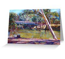 The Historic Goulburn Bridge - Seymour Greeting Card