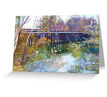 Old Goulburn Bridge (Seymour) No. 1 Greeting Card