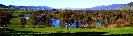 Kiewa River Floodplain by Natalie Ord