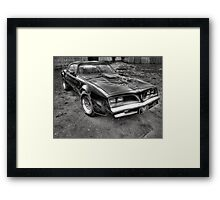 Black and White Trans Am  Framed Print