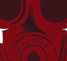 Gas mask RED halftone Sticker