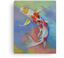 Butterfly Koi Fish Canvas Print