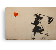 Catching Love Canvas Print