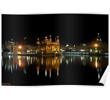 GOLDEN TEMPLE @ NIGHT Poster