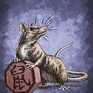 Chinese Zodiac - The Rat Card by Stephanie Smith