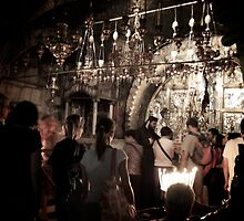 The spot where Jesus was crucified - Church of the Holy Sepulchre, Jerusalem, Israel by MikeyLee