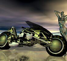 Riding in Style by Sandra Bauser Digital Art