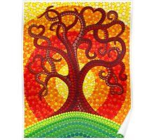 Autumn Illuminated Tree Poster