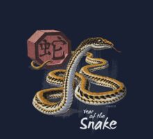 Year of the Snake (for dark shirts) Kids Clothes