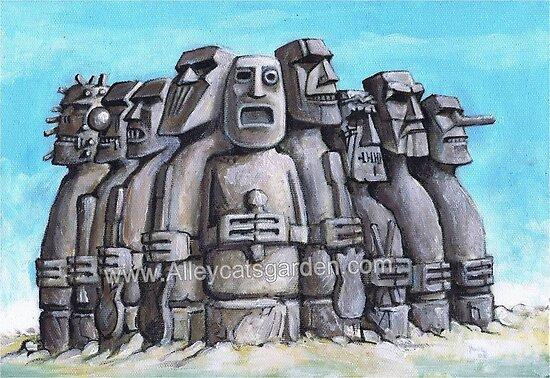 Heavy Rock Gods by Alleycatsgarden