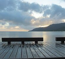 Sunrising - Cairns Esplanade by Jo Antunez