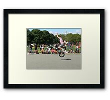 Unicycle Jumper Framed Print
