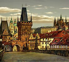 Prague Charles bridge by Victoria Francisco