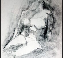 Charcoal Figure Drawing I by ChristianeW