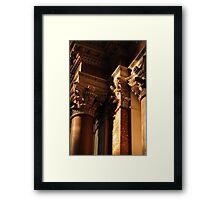 Capitals in S.M degli Angeli, Rome Framed Print