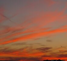 Peach Cylcone Sunset by MarianBendeth