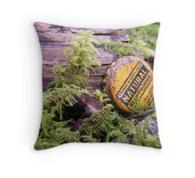 Surrounded by green, but is this natural?   Throw Pillow