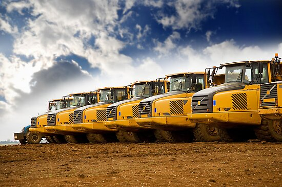 Tipper Trucks by Steve Woods