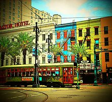 New Orleans Cable Car... by Rita  H. Ireland