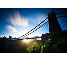Clifton Suspension Bridge - Bristol - England Photographic Print