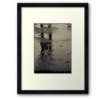 Are we just shouting at the pain?...or do we see just what we are?...We're naked in the rain Framed Print