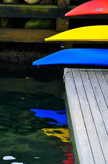 Tips of Kayaks, Camden, Maine by fauselr