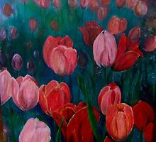 Pink Tulips by petrapols