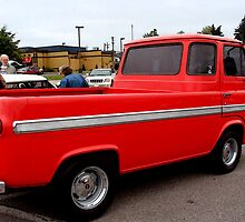 Red Ford Panel Pick Up Truck by vigor