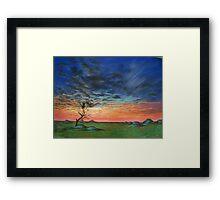 Rainbow Sunset Framed Print
