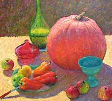 Still life with a pumpkin by Julia Lesnichy