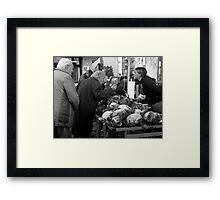 Getting the Right Price ~ Civitavecchia, Italy  Framed Print