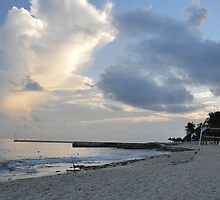 Amazing Clouds at a Beach in Cozumel by mltrue