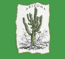 Giant Saguaro ARIZONA tee by James Lewis Hamilton