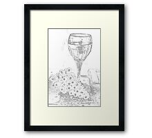 Wine and Grapes Framed Print