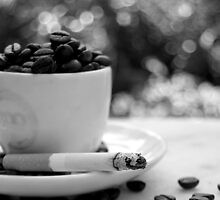 cigarettes and coffee, man, that's a combination by biggreeneyes
