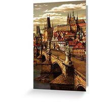 Prague Charles bridge  Greeting Card